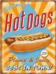 American Hot Dog Sausage Retro Metal Wall Sign Tin Plaque Gift